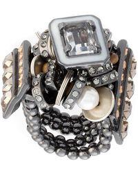 Camila Klein - Embellished Rondelas Ring - Lyst