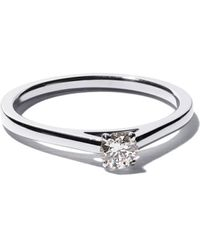 De Beers Platinum My First Db Classic Solitaire Diamond Ring - Multicolor
