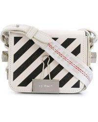 Off-White c/o Virgil Abloh Mini 'Binder Clip' Handtasche - Weiß