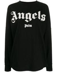Palm Angels Sweat à logo embossé - Noir