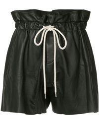 Bassike - Ruffle High Waist Shorts - Lyst