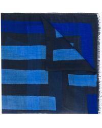 Etro Foulard en cachemire à motif géométrique - Bleu