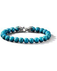 David Yurman Spiritual Bead Turquoise Bracelet - Blue