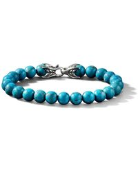 David Yurman Spiritual Bead Turquoise Bracelet - Blauw