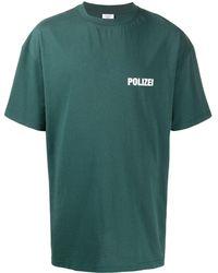 Vetements Polizei クルーネック Tシャツ - グリーン