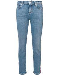Alexander McQueen Side Stripe Jeans - Blue