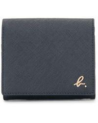agnès b. Small Flap Wallet - Blue