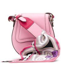 Emilio Pucci Scarf Handle Shoulder Bag - Pink