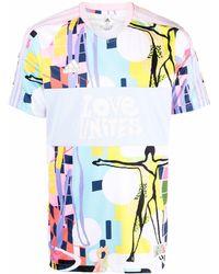adidas Love Unites Tiro Tシャツ - ブラウン