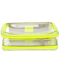 Anya Hindmarch Inflight Make-up Bag - Yellow
