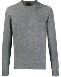 Dell'Oglio Crew Neck Pullover - Grey