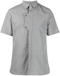 HELIOT EMIL Layered Short-sleeved Shirt - Grey
