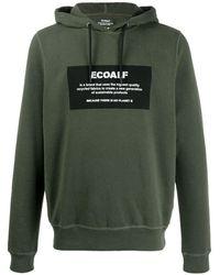 Ecoalf Logo Print Hoodie - Green