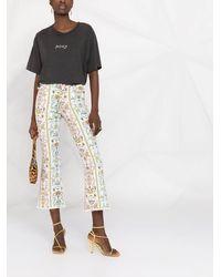 Versace Jeans Couture Tuileries クロップド フレアジーンズ - ブルー