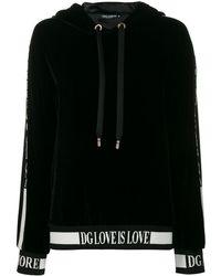 Dolce & Gabbana Худи Love Is Love - Черный