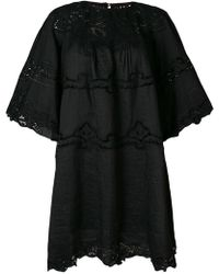e651a23eef6 Isabel Marant Lace Panel Shift Dress in Black - Lyst