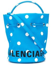 Balenciaga ウィール バケットバッグ Xs - ブルー