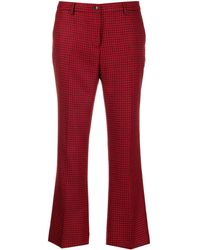PT01 - Pantalon crop à motif pied-de-poule - Lyst