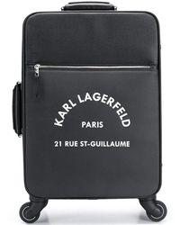 Karl Lagerfeld Maleta con ruedas - Negro