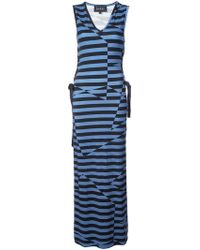 Nicole Miller - Illusion Stripe Maxi Dress - Lyst
