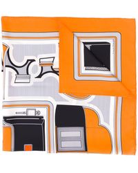 Hermès 2000's Pre-owned Abstract Print Scarf - Orange