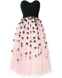 Carolina Herrera ストラップレス ドレス - ピンク