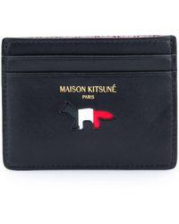 Maison Kitsuné Tricolour Card Holder - Multicolor