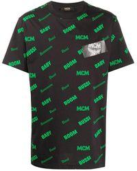 MCM モノグラム Tシャツ - ブラック