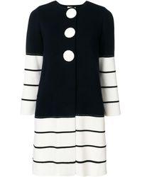 Charlott Striped Knit Coat - Blue