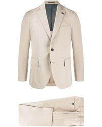 Gabriele Pasini スリムフィット スーツ - ブラウン