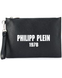 Philipp Plein 1978 Logo Clutch Bag - Black