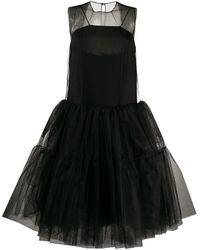 N°21 Пышное Платье Из Тюля - Черный