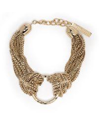 Alberta Ferretti Multi-chain Ring Bracelet - Metallic
