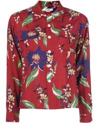 RE/DONE Рубашка С Цветочным Принтом И Длинными Рукавами - Красный