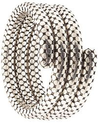 John Hardy 'Dot Triple Coil' Armreif - Mettallic
