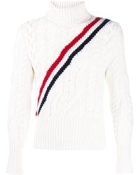 Thom Browne ハイネック セーター - ホワイト
