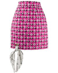 Versace - ツイード ミニスカート - Lyst