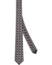 Fendi Cravate à motif géométrique - Gris