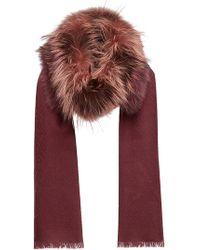 Fendi - Touch Of Fur Stole - Lyst