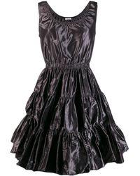 Miu Miu シャーリング フレアドレス - ブラック