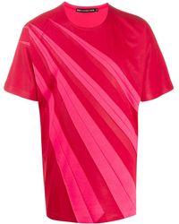 Issey Miyake T-shirt bicolore - Rouge