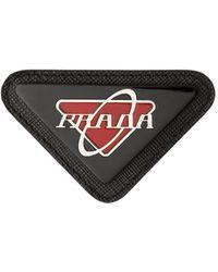 Prada Pin triangulaire à logo - Noir