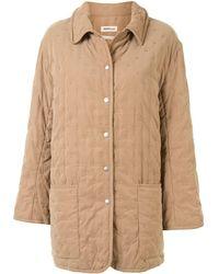 Hermès Пальто Pre-owned С Вышивкой - Коричневый