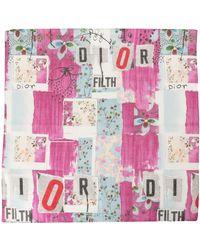 Dior Logo Print Two Scarf Set - Pink