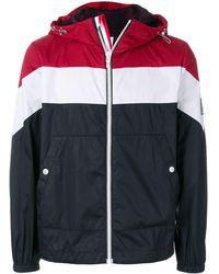 Moncler Gamme Bleu Striped hooded jacket - Bleu