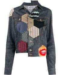 Loewe Джинсовая Куртка В Технике Пэчворк - Многоцветный