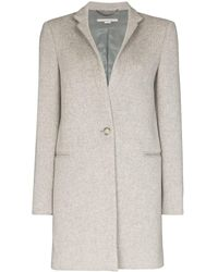 Stella McCartney Однобортное Пальто - Серый