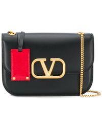 Valentino Garavani Vリング ショルダーバッグ - ブラック