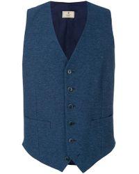 Hackett - Double Pocket Button Waistcoat - Lyst