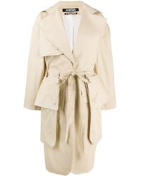 Jacquemus Oversized Pockets Trench Coat - Natural